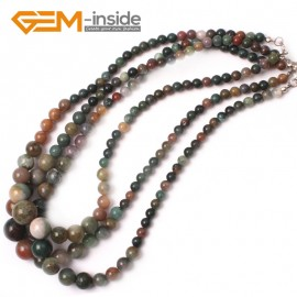 """G2742 6-14mm Indian Agate Graduated Gemstone Loose Beads Strand 15"""" Natural Stone Beads for Jewelry Making Necklace Wholesale"""