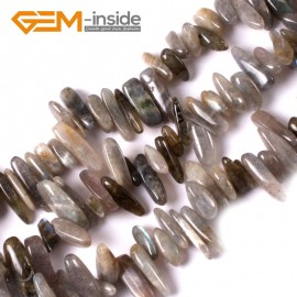 """G3478 16-20mm (Labradorite) Freeform Stick Gemstone Jewelry Making Loose Beads 15"""" 39 Materials Natural Stone Beads for Jewelry Making Wholesale"""