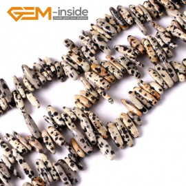 "G3479 16-20mm (Dalmatian) Freeform Stick Gemstone Jewelry Making Loose Beads 15"" 39 Materials Natural Stone Beads for Jewelry Making Wholesale"