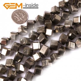 """G3603 8mm cubic Gemstone Silver Gray Pyrite Stone Beads Strand 15"""" Free Shipping Natural Stone Beads for Jewelry Making Wholesale"""