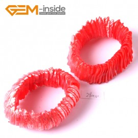 "G3646  28mm Red Shell MOP Dyed Color Bracelet 7"" Two Kinds of Wear Method  Fashion Jewelry Jewellery Bracelets for Women"