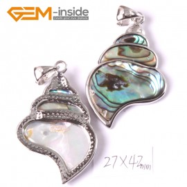 G3660 27x42mm conch Natural  Abalone Shell Beads Pendant Fashion Jewelry 1 Pcs Pendants Fashion Jewelry Jewellery