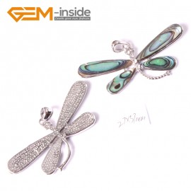G3662 27x57mm dragonfly Natural  Abalone Shell Beads Pendant Fashion Jewelry 1 Pcs Pendants Fashion Jewelry Jewellery