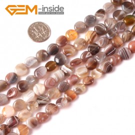 """G3999 8-10mm Natural Freeform Botswana Agate Beads 15"""" Jewelry Making Gemstone Loose Beads Natural Stone Beads for Jewelry Making Wholesale"""
