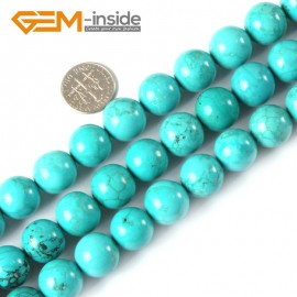 """G4074 14mm Round Gemstone Natural Turquoise Gemstone Loose Beads 15"""" Natural Stone Beads for Jewelry Making Wholesale"""