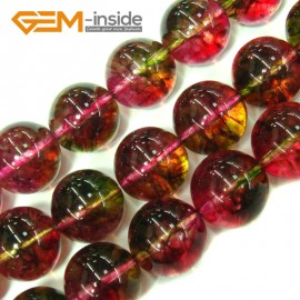 "G4113 16mm Round Tourmaline Faux Crackle Jewelry Making Stone Beads Strand 15""  Stone Beads for Jewelry Making Wholesale"