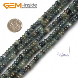 "G4315 4x6mm Rondelle Kyanite Gemstone Beads 15"" Jewelry Making Beads 3X5  4X6mm Pick Natural Stone Beads for Jewelry Making Wholesale"