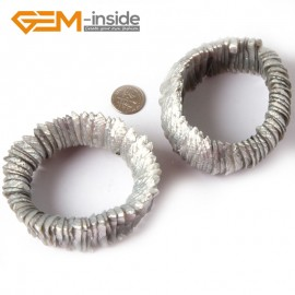 "G4415 28mm Gray Natural Shell MOP Dyed Color Bracelet 7 ""Two Kinds of Wear Method  Fashion Jewelry Jewellery Bracelets for Women"