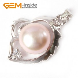 G4585 9-10mm Purple Freshwater Pearl Gold Plated Frame Necklace Pendant 16x22mm Fashion Jewelry Jewellery 1 Pcs