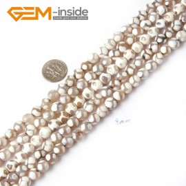"G4712 White Faceted Round Gemstone Football Fire Agate Loose Beads Strand 15"" Natural Stone Beads for Jewelry Making Wholesale"