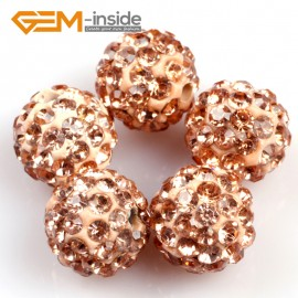G4969 golden 10mm Fashion Pave Rhinestones Crystal Ball Jewelry Making Beads 10 Pcs Wholesale Natural Stone Beads for Jewelry Making Wholesale