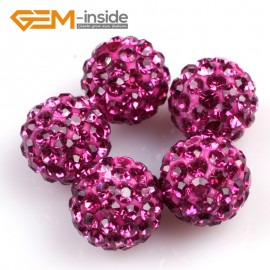 G4972 plum 10mm Fashion Pave Rhinestones Crystal Ball Jewelry Making Beads 10 Pcs Wholesale Natural Stone Beads for Jewelry Making Wholesale