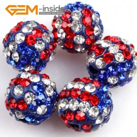 G4973 multicolor 10mm Fashion Pave Rhinestones Crystal Ball Jewelry Making Beads 10 Pcs Wholesale Natural Stone Beads for Jewelry Making Wholesale