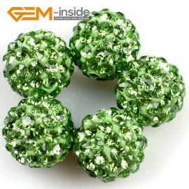 G4996 green 10mm Fashion Pave Rhinestones Crystal Ball Jewelry Making Beads 10 Pcs Wholesale Natural Stone Beads for Jewelry Making Wholesale