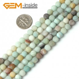 """G5258 6mm Mixed Color Round Frost Mixed Color Amazonite Gemstone Loose Beads Strand 15"""" Natural Stone Beads for Jewelry Making Wholesale"""