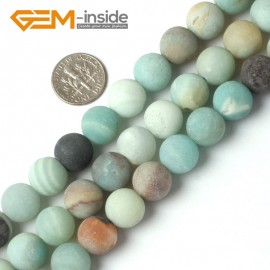 """G5261 12mm Mixed color  Round Frost Mixed Color Amazonite Gemstone Loose Beads Strand 15""""  