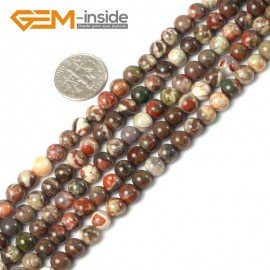 """G5403 6mm Natural Flower Agate Beads Jewelry Making Round Gemstone Loose Beads 15"""" 8-16mm Natural Stone Beads for Jewelry Making Wholesale"""