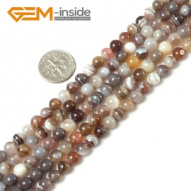 """G5408 6mm Round Gemstone Natural Botswana Agate Loose Beads strand 15"""" Grey Gray Free Shipping Natural Stone Beads for Jewelry Making Wholesale"""