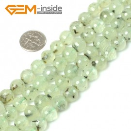 """G5411 10mm Natural Round Faceted Prehnite Beads Jewelry Making Loose Beads15"""" Free Shipping Natural Stone Beads for Jewelry Making Wholesale"""