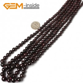 "G5465 5-11mm Garnet Graduated Gemstone Loose Beads Strand 15"" Natural Stone Beads for Jewelry Making Necklace Wholesale"