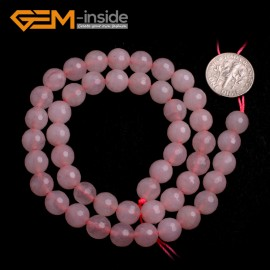 "G6420 12mm Beautiful Round Faceted Rose Pink Jade Beads 15"" Jewelry Making Losoe Beads Natural Stone Beads for Jewelry Making Wholesale"