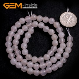 "G6423 6mm G-Beads Round Faceted  Gemstone White Jade Beads Jewelry Making Loose Beads15"" Natural Stone Beads for Jewelry Making Wholesale"