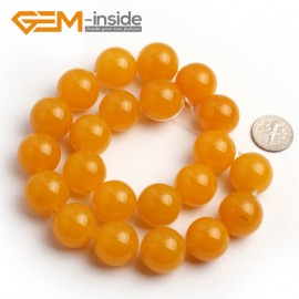 "G6443 18mm Round Yellow Jade Beads Jewelry Making Gemstone Loose Stone Beads15"" 4-18mm Pick Natural Stone Beads for Jewelry Making Wholesale"