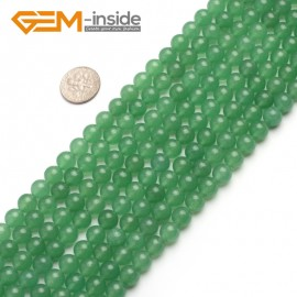 "G6462 8mm  Round Green Jade Aventurine Beads Strand 15""Jewelry Making Gemstone Loose Beads Natural Stone Beads for Jewelry Making Wholesale"