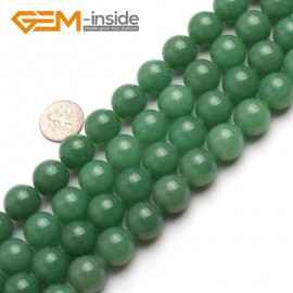"G6465 14mm  Round Green Jade Aventurine Beads Strand 15""Jewelry Making Gemstone Loose Beads Natural Stone Beads for Jewelry Making Wholesale"