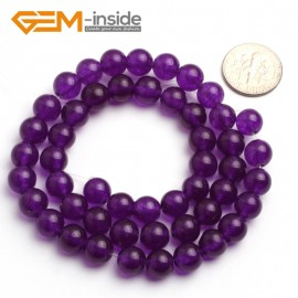 "G6469 8mm Round Dark Purple Jade Gemstone Beads15"" Jewelry Making Loose Beads 4-18mm Pick Natural Stone Beads for Jewelry Making Wholesale"