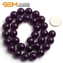 "G6471 12mm Round Dark Purple Jade Gemstone Beads15"" Jewelry Making Loose Beads 4-18mm Pick Natural Stone Beads for Jewelry Making Wholesale"