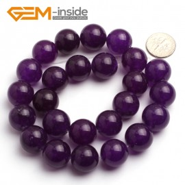 "G6473 16mm Round Dark Purple Jade Gemstone Beads15"" Jewelry Making Loose Beads 4-18mm Pick Natural Stone Beads for Jewelry Making Wholesale"