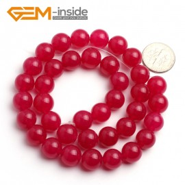 """G6484 Plum 10mm Round Smooth Jade Beads Jewellery Making Loose Beads 15"""" Pick Size & Colour Natural Stone Beads for Jewelry Making Wholesale"""