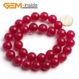 "G6485 Plum 12mm Round Smooth Jade Beads Jewellery Making Loose Beads 15"" Pick Size & Colour Natural Stone Beads for Jewelry Making Wholesale"
