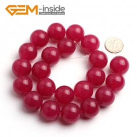 "G6488 18mm Round Gemstone Plum Jade Beads DIY Jewelry Making Loose Beads 15""4-18mm Pick Natural Stone Beads for Jewelry Making Wholesale"