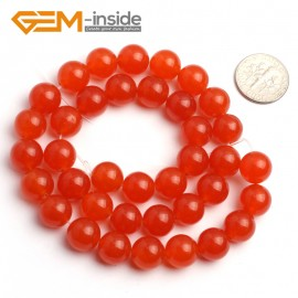 "G6491 10mm Round Orange Jade Beads Jewelry Making Loose Beads 15"" Natural Stone Beads for Jewelry Making Wholesale"