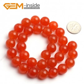 "G6492 12mm Round Orange Jade Beads Jewelry Making Loose Beads 15"" Natural Stone Beads for Jewelry Making Wholesale"
