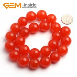 "G6493 16mm Round Orange Jade Beads Jewelry Making Loose Beads 15"" Natural Stone Beads for Jewelry Making Wholesale"