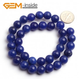 "G6496 10mm Round Dark Blue Jade Beads Jewelry Making Loose Beads Strand 15"" 4-14mm Pick Natural Stone Beads for Jewelry Making Wholesale"