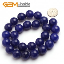 "G6497 14mm Round Dark Blue Jade Beads Jewelry Making Loose Beads Strand 15"" 4-14mm Pick Natural Stone Beads for Jewelry Making Wholesale"
