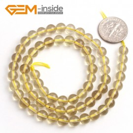 "G6523 pretty 6mm round lemon quartz gemstone loose beads 15""jewelry making G-Beads Natural Stone Beads for Jewelry Making Wholesale"