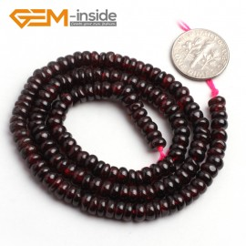 "G6531 2.5x5mm(Smooth) Natural Rondelle Garnet Loose Beads 15"" Jewelry Making Beads Natural Stone Beads for Jewelry Making Wholesale"