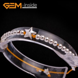 """G6583 yellow New Fashion silver star/ball beads rope bracelets adjustable 7"""" 12 colors select Fashion Jewelry Jewellery Bracelets  for women"""