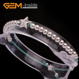 """G6585 green New Fashion silver star/ball beads rope bracelets adjustable 7"""" 12 colors select Fashion Jewelry Jewellery Bracelets  for women"""