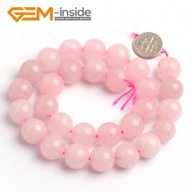 "G6624 Rose Pink 14mm Round Smooth Jade Beads Jewellery Making Loose Beads 15"" Pick Size & Colour Natural Stone Beads for Jewelry Making Wholesale"