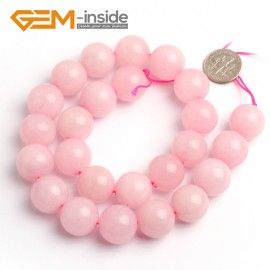 "G6625 Rose Pink 16mm Round Smooth Jade Beads Jewellery Making Loose Beads 15"" Pick Size & Colour Natural Stone Beads for Jewelry Making Wholesale"