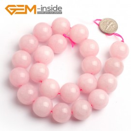 "G6626 18mm G-Beads Round Pink Jade Jewelry Making Beads Strand 15"" Natural Stone Beads for Jewelry Making Wholesale"