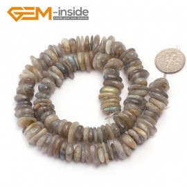 "G6641 Gray labradorite 3-5x10-12mm Freeform Potato Shape Gemstone Loose Beads Strand 15""Free Shipping Natural Stone Beads for Jewelry Making Wholesale`"
