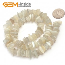 "G6642 Silver Moonstone 3-5x10-12mm Freeform Potato Shape Gemstone Loose Beads Strand 15""Free Shipping Natural Stone Beads for Jewelry Making Wholesale`"