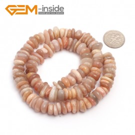 "G6651 Orange Sun Stone 3-5x10-12mm Freeform Potato Shape Gemstone Loose Beads Strand 15""Free Shipping Natural Stone Beads for Jewelry Making Wholesale`"